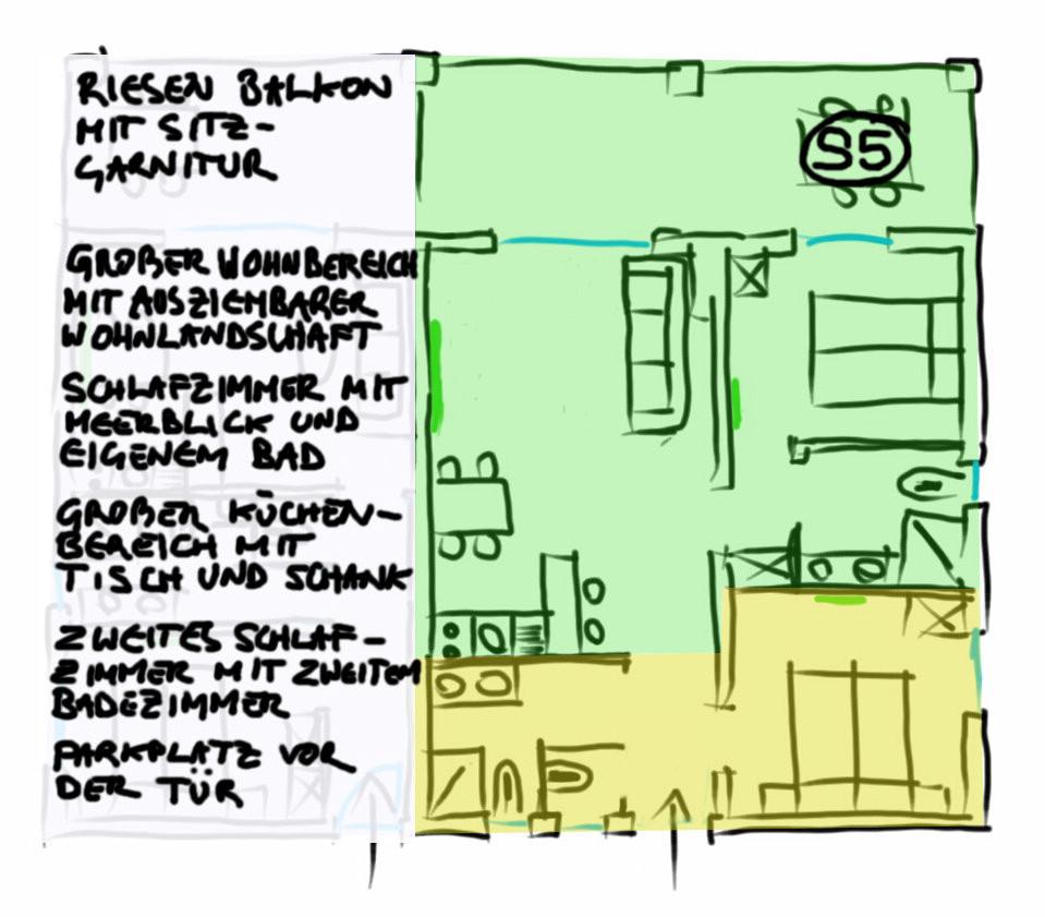 Grundriss Appartement Ferienwohnung S5