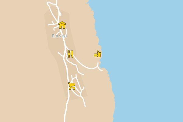 Anreise und Lage, Karte Ravni, Google Maps